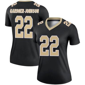 Women's Nike New Orleans Saints Chauncey Gardner-Johnson Black Jersey - Legend