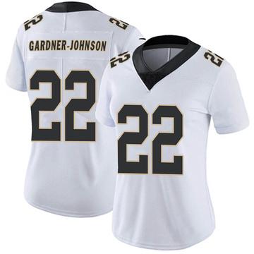 Women's Nike New Orleans Saints Chauncey Gardner-Johnson White Vapor Untouchable Jersey - Limited
