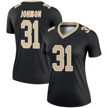 Women's Nike New Orleans Saints Chris Johnson Black Jersey - Legend