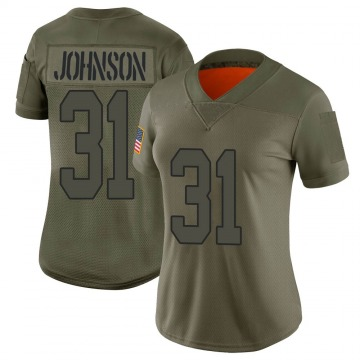 Women's Nike New Orleans Saints Chris Johnson Camo 2019 Salute to Service Jersey - Limited