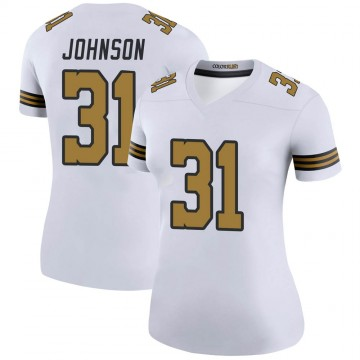 Women's Nike New Orleans Saints Chris Johnson White Color Rush Jersey - Legend
