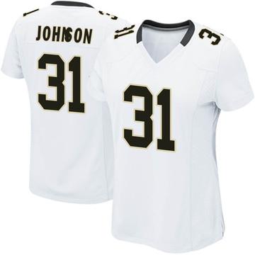 Women's Nike New Orleans Saints Chris Johnson White Jersey - Game