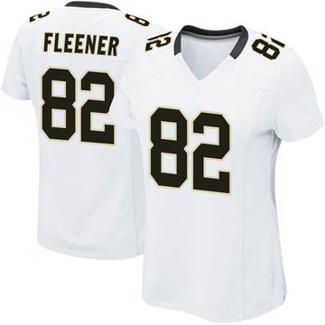 Women's Nike New Orleans Saints Coby Fleener White Jersey - Game
