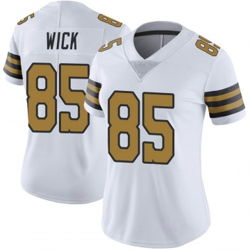 Women's Nike New Orleans Saints Cole Wick White Color Rush Jersey - Limited