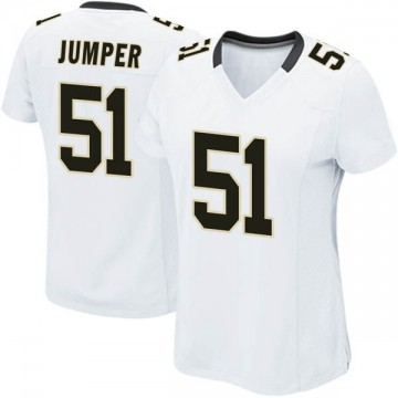 Women's Nike New Orleans Saints Colton Jumper White Jersey - Game