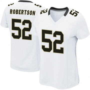 Women's Nike New Orleans Saints Craig Robertson White Jersey - Game