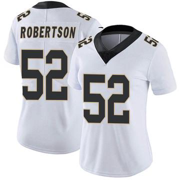 Women's Nike New Orleans Saints Craig Robertson White Vapor Untouchable Jersey - Limited