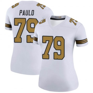 Women's Nike New Orleans Saints Darrin Paulo White Color Rush Jersey - Legend