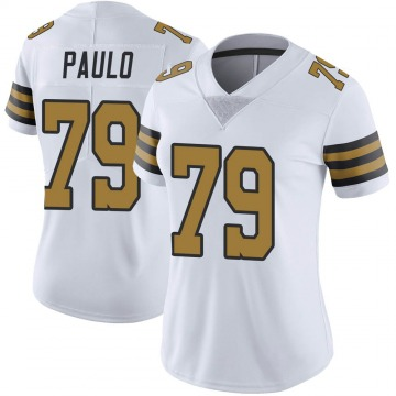 Women's Nike New Orleans Saints Darrin Paulo White Color Rush Jersey - Limited
