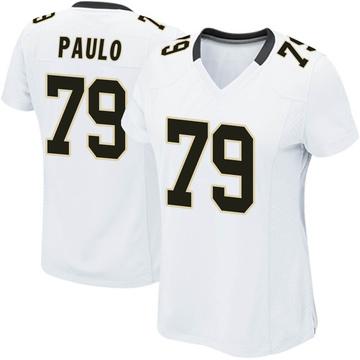 Women's Nike New Orleans Saints Darrin Paulo White Jersey - Game