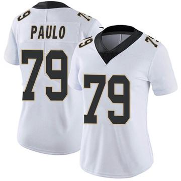Women's Nike New Orleans Saints Darrin Paulo White Vapor Untouchable Jersey - Limited