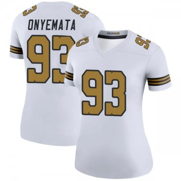 Women's Nike New Orleans Saints David Onyemata White Color Rush Jersey - Legend