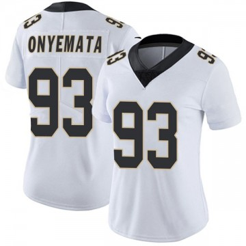 Women's Nike New Orleans Saints David Onyemata White Vapor Untouchable Jersey - Limited