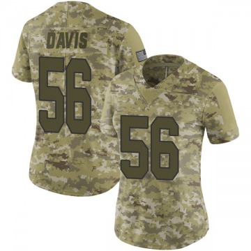 Women's Nike New Orleans Saints Demario Davis Camo 2018 Salute to Service Jersey - Limited