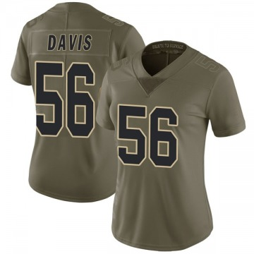 Women's Nike New Orleans Saints Demario Davis Green 2017 Salute to Service Jersey - Limited