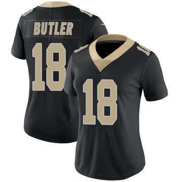 Women's Nike New Orleans Saints Emmanuel Butler Black Team Color 100th Vapor Untouchable Jersey - Limited