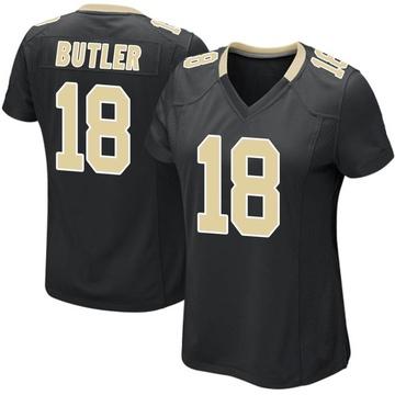 Women's Nike New Orleans Saints Emmanuel Butler Black Team Color Jersey - Game