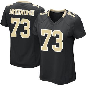 Women's Nike New Orleans Saints Ethan Greenidge Green Black Team Color Jersey - Game