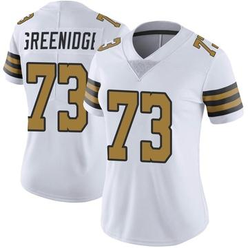 Women's Nike New Orleans Saints Ethan Greenidge White Color Rush Jersey - Limited