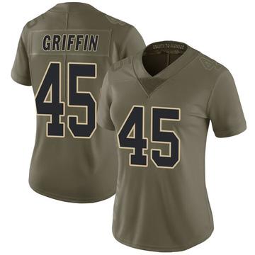Women's Nike New Orleans Saints Garrett Griffin Green 2017 Salute to Service Jersey - Limited