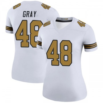 Women's Nike New Orleans Saints J.T. Gray White Color Rush Jersey - Legend