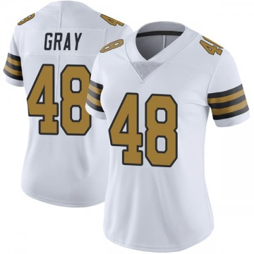 Women's Nike New Orleans Saints J.T. Gray White Color Rush Jersey - Limited