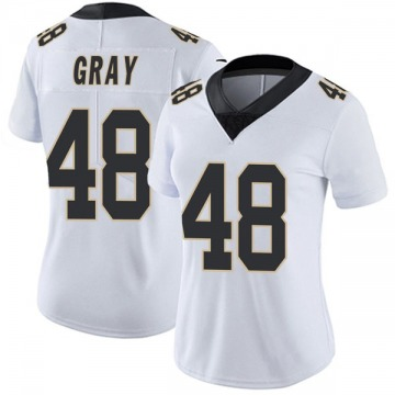 Women's Nike New Orleans Saints J.T. Gray White Vapor Untouchable Jersey - Limited