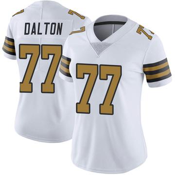 Women's Nike New Orleans Saints Jalen Dalton White Color Rush Jersey - Limited