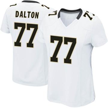 Women's Nike New Orleans Saints Jalen Dalton White Jersey - Game