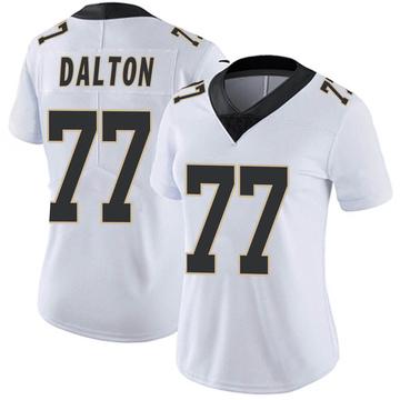Women's Nike New Orleans Saints Jalen Dalton White Vapor Untouchable Jersey - Limited