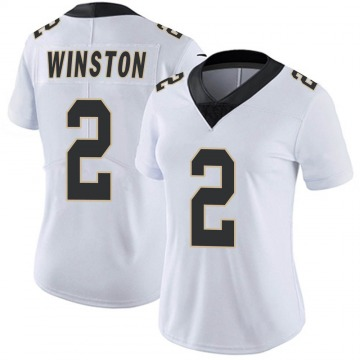 Women's Nike New Orleans Saints Jameis Winston White Vapor Untouchable Jersey - Limited