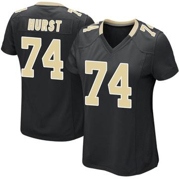 Women's Nike New Orleans Saints James Hurst Black Team Color Jersey - Game
