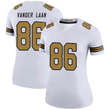 Women's Nike New Orleans Saints Jason Vander Laan White Color Rush Jersey - Legend