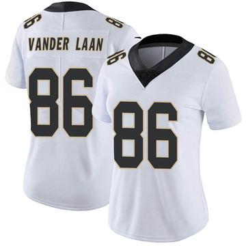 Women's Nike New Orleans Saints Jason Vander Laan White Vapor Untouchable Jersey - Limited