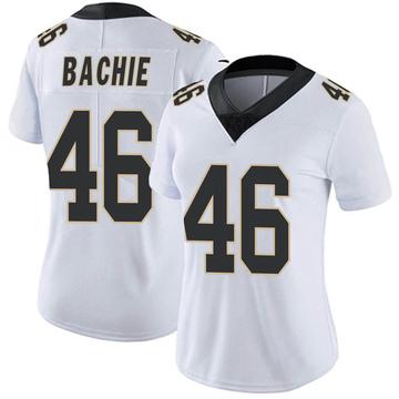 Women's Nike New Orleans Saints Joe Bachie White Vapor Untouchable Jersey - Limited