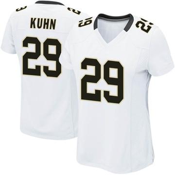 Women's Nike New Orleans Saints John Kuhn White Jersey - Game