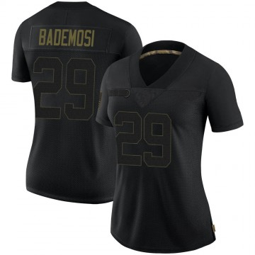 Women's Nike New Orleans Saints Johnson Bademosi Black 2020 Salute To Service Jersey - Limited
