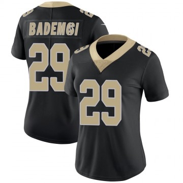 Women's Nike New Orleans Saints Johnson Bademosi Black Team Color 100th Vapor Untouchable Jersey - Limited