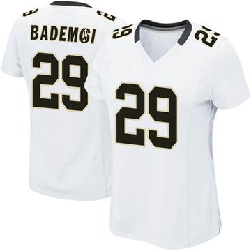 Women's Nike New Orleans Saints Johnson Bademosi White Jersey - Game