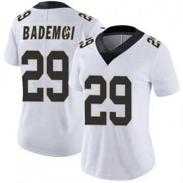 Women's Nike New Orleans Saints Johnson Bademosi White Vapor Untouchable Jersey - Limited