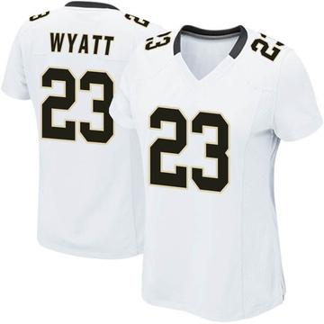 Women's Nike New Orleans Saints Jordan Wyatt White Jersey - Game