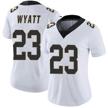 Women's Nike New Orleans Saints Jordan Wyatt White Vapor Untouchable Jersey - Limited