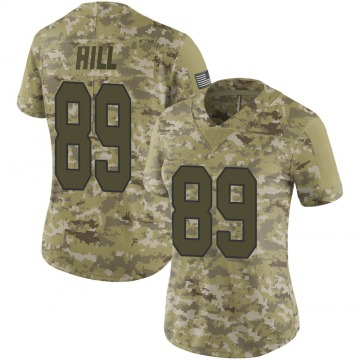 Women's Nike New Orleans Saints Josh Hill Camo 2018 Salute to Service Jersey - Limited