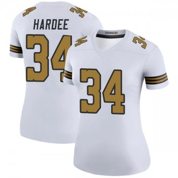 Women's Nike New Orleans Saints Justin Hardee White Color Rush Jersey - Legend