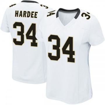 Women's Nike New Orleans Saints Justin Hardee White Jersey - Game