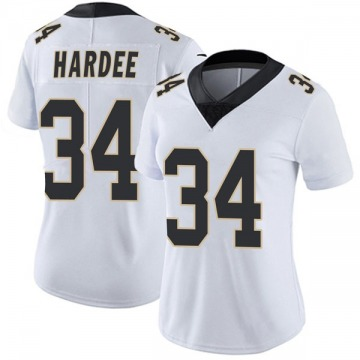 Women's Nike New Orleans Saints Justin Hardee White Vapor Untouchable Jersey - Limited