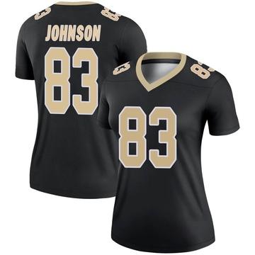 Women's Nike New Orleans Saints Juwan Johnson Black Jersey - Legend