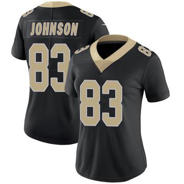 Women's Nike New Orleans Saints Juwan Johnson Black Team Color 100th Vapor Untouchable Jersey - Limited