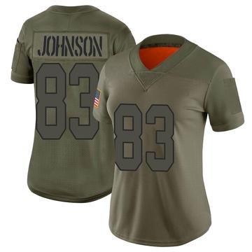 Women's Nike New Orleans Saints Juwan Johnson Camo 2019 Salute to Service Jersey - Limited