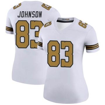Women's Nike New Orleans Saints Juwan Johnson White Color Rush Jersey - Legend